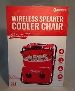 Budweiser Wireless Bluetooth Speaker Cooler Chair *BRAND NEW*