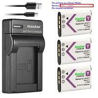 Kastar Battery Slim Charger for Olympus Li-60B 60B Nikon EN-EL11 EL11 RICOH DB80