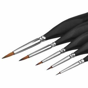 6PCS Miniature Brushes Fine Detail Paint Brush Set Art Painting Drawing Pen Kit