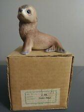 Akiku Baby Seal Limited Porcelain Sculpture Roger J. Brown River Shore 1978
