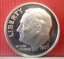 1997-S Roosevelt Dime Sliver KM# 195b B-013