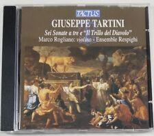"""Giuseppe Tartini: Sei Sonate a tre e """"Il Trillo dei Diavolo"""" (CD, 2006, Tactus)"""