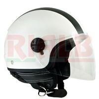 Casco Demi-Jet Open Face CGM 101G OREGON - bianco metal per Scooter e Moto