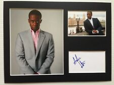 [A0782] Adrian Lester Signed 12x16 Display AFTAL