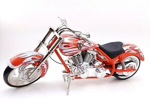 County Choppers OCC Chopper Bike Red And Silver Die Cast Over 14 Inches READ