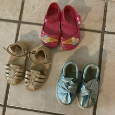 Lot Of Eleven Pair Toddler Girl Shoes Size 5, 6, 7, 8 Shoes, Sandals See Images