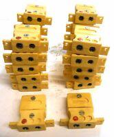 TEMPCO MINI PROBE CONNECTORS, 2-PIN, TYPE K, LOT OF 22