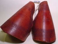 Nice VINTAGE Hooded Leather Hand Embossed Saddle Tapaderos for Ladies Saddle