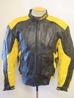 "Vintage Dainese Leather Jacket CAFE RACER Motorcycle Biker Jacket L 42"" Euro 52"