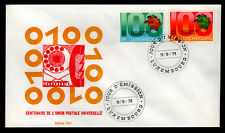 Luxembourg - Sc #551 & 552 -1974 Upu Centenary - Unaddressed First Day Cover