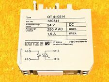 ***CHIPPED*** LUTZE OT 4-0814 MINI COMPACT SOLID STATE RELAY 730814 24 VDC INPUT