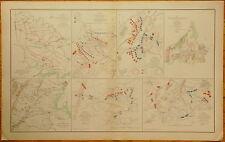 AUTHENTIC CIVIL WAR MAP ~ PENINSULAR CAMPAIGN - 1862