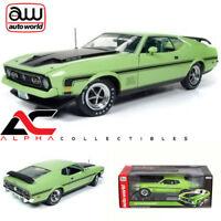 AUTOWORLD AMM1069 1:18 1971 FORD MUSTANG MACH 1 429 RAM AIR GRABBER LIME GREEN