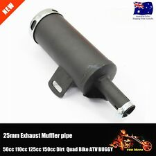 25mm Muffler Exhaust Pipe 50cc 110cc 125cc 150cc PIT PRO Quad Bike ATV Dirt Quad