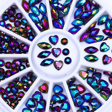 Chameleon AB Color Marquise 3D Nail Rhinestones Heart Flat Back Resin Decoration