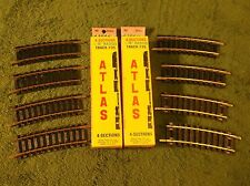 "NOS MINT In Box 18"" R 1/3 Atlas Code 100 Brass Railroad Train Track Sections"