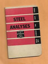 BETHLEHEM STEEL ANALYSES  VINTAGE ADVERTISING BOOKLET 1964 27  PAGES