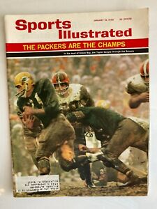 Vintage Jim Taylor, Green Bay Packers, 1/10/1966 Sports Illustrated Magazine