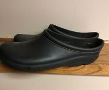 Sloggers Turf King Mens Size 10 M Black Clogs, Garden Shoes, Removable Liner