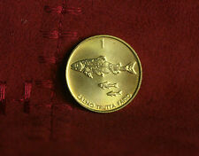 1998 Slovenia 1 Tolar Brass Coin Unc KM4 Brown Trout Fish uncirculated