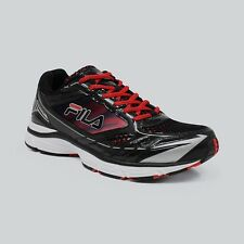 New FILA Cool Max Sz 8 Mens Running Shoes Black & Red Colors