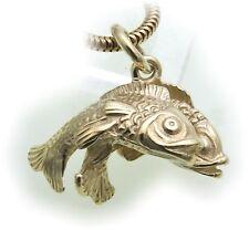 Anhänger Sternzeichen Fische echt Gold 585 massiv 14kt Tierkreiszeichen
