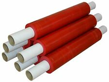 6 Rolls 400mm x 250m 20mu Extended Core Red Tint Pallet/Stretch Wrap