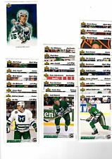 1X HARTFORD WHALERS 1991-92 Upper Deck TEAM SET Series 1 & 2 Bulk Lot Available
