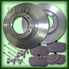 LAND ROVER DEFENDER 110 to`86 SOLID FRONT BRAKE DISC AND PAD SET