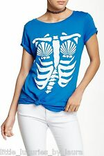 New WILDFOX COUTURE Mermaid X-Ray Skeleton Tee T-Shirt Top Medium M