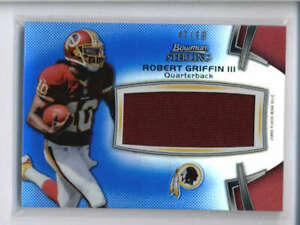 ROBERT GRIFFIN III 2012 BOWMAN STERLING ROOKIE BLUE REFRACTOR PATCH #/99 AJ6211