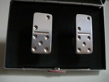Mens Silver Finish Rectangle Cuff Links