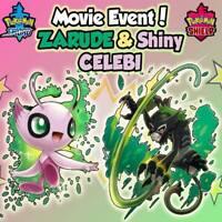 Pokemon Sword/Shield MOVIE EVENT Square Shiny Celebi + Zarude 100% LEGIT