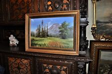 Fantastic vintage Mountain scenery Painting  absolutely gorgeous