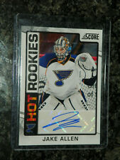 12/13 PANINI SCORE JAKE ALLEN HOT ROOKIES AUTO SIGNATURE RC SP #544 RARE