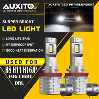 2X AUXITO H8 H11 H9 Fog Light 6000K White Super Bright LED Driving Bulb M4 EA