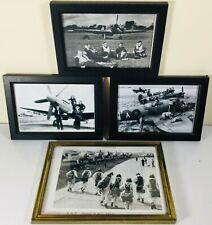 COLLECTION OF FRAMED RAF PHOTOGRAPHS / PRINTS INC RAF HORNCHURCH CREW PHOTOS