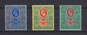 SIERRA LEONE 1921, SG 144-146, MNH VF ##