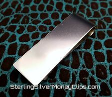 26.7g Long SHARP SLEEK CLASSIC Argentium 925 935 Sterling Silver Money Clip USA