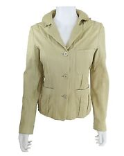 Donna Karan Tan Leather Blazer with Stitch Detailing Size 6
