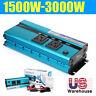 1500W /3000 Watt Peak Power Inverter DC 12V to AC 110V for RV Truck Cars Pickup