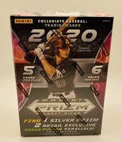 2020 Panini Prizm Draft Picks Collegiate Baseball Cards Blaster Box - New Sealed
