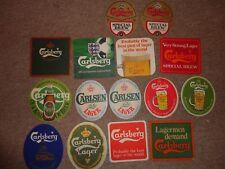 Beer drinks mats drip mats coaster CARLSBERG CARLSEN LITE job lot