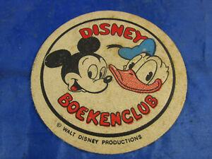 "Bierdeckel ""Disney Boeckenclub"" Walt Disney Productions Mickey Mouse Donald Duck"