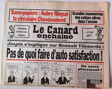 Le Canard Enchaîné 2/07/1997; Dessin de Cabu/ Manoeuvres des cathos ds l'armée