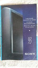 SONY téléviseurs couleur Enregistreurs vidéo Multi-Disc Players catalogue 1993