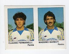 figurina CALCIATORI CALCIO FLASH 1985 N. 398 PARMA FERMANELLI, BARBUTI