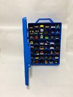 Vintage Mattel Hot Wheels 48 Car Carry Case 20020 Blue Box Tara With 52 Cars