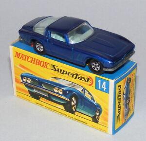 MATCHBOX SUPERFAST #14a ISO GRIFO DARK BLUE + NARROW WHEELS MINT BOXED