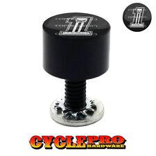 "Black Billet Aluminum /""45 AUTO/"" Knurled Custom Seat Bolt for 1996-2015 Harley"